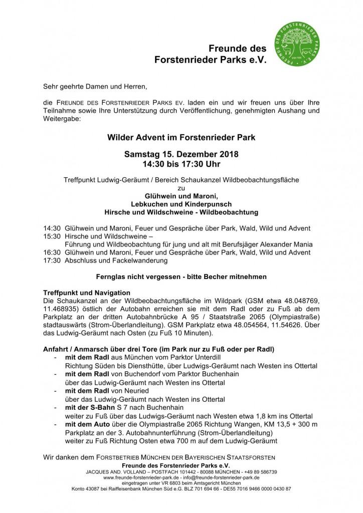 Wilder Advent im Forstenrieder Park